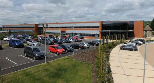 Renishaw's new Innovation Center houses R&D and corporate services staff, as well as demonstration, training and conference areas.