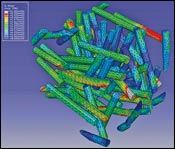 Volume in a composite microstructure