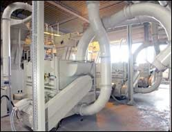 Waterless mechanical recycling system