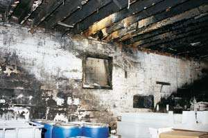 soot on the walls