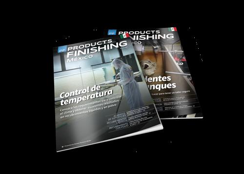 Products Finishing México Magazine covers