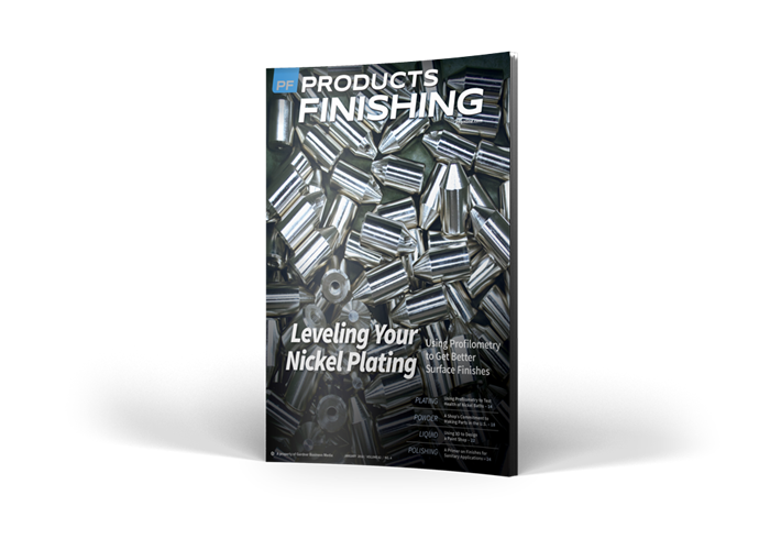 >Products Finishing Magazine cover