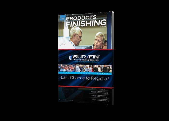 Products Finishing Magazine cover